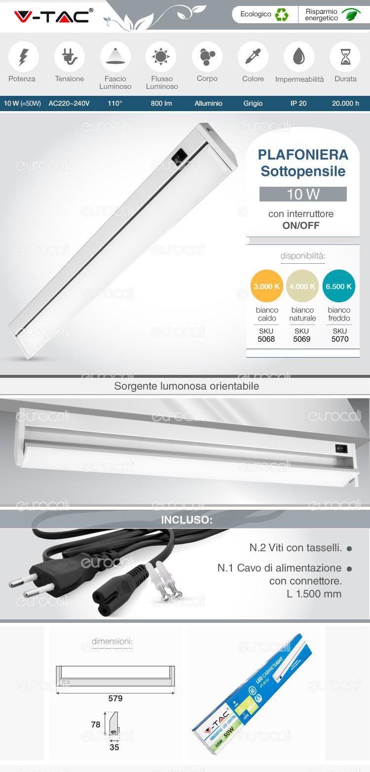 Tubo LED Plafoniera Smd percappe : led sottopensile cucina