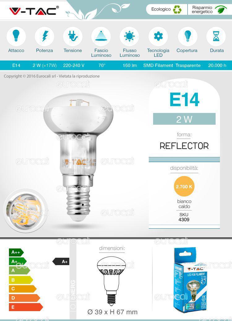 lampadina E14 R39 filament