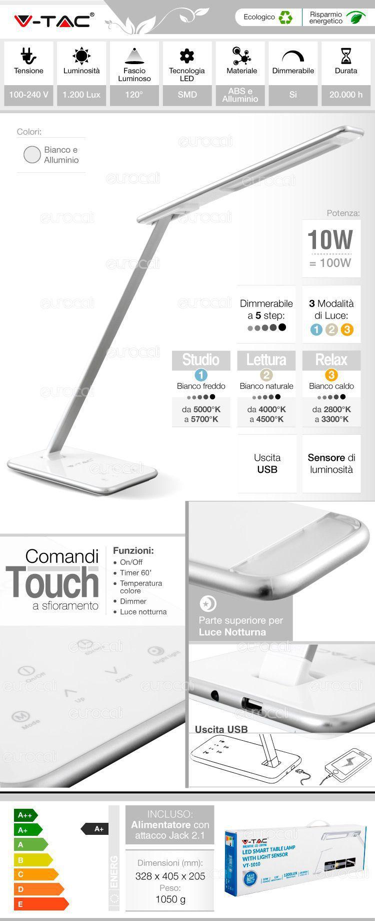 Lampada da tavolo LED V-Tac
