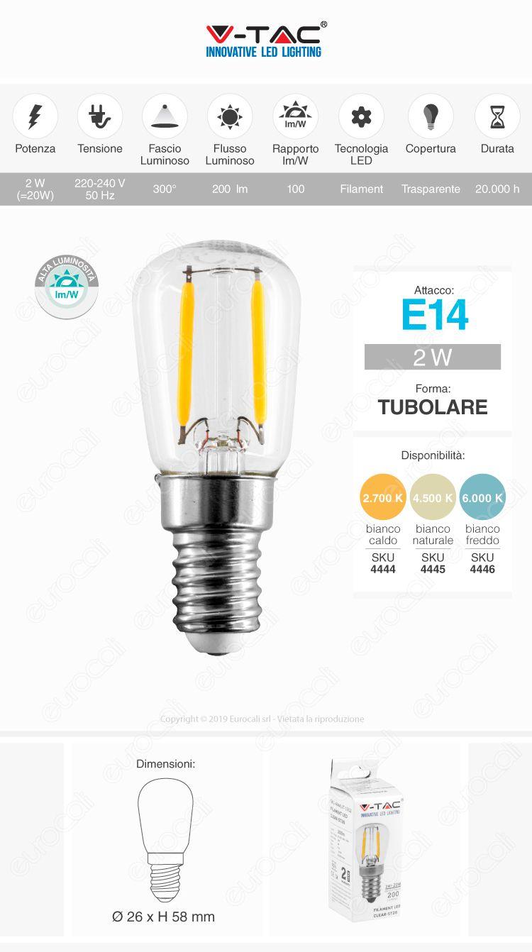 v-tac Lampadina LED E14 fialment