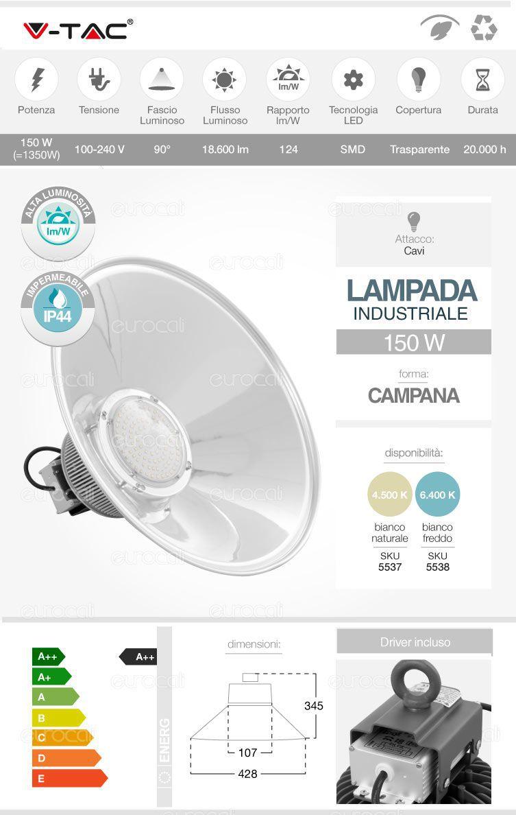 lampada industriale campana led