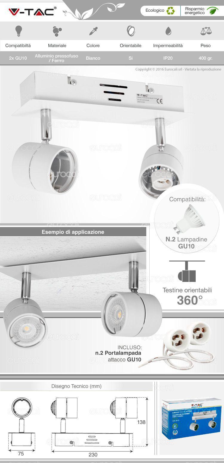 Portafaretti per lampadine led gu10