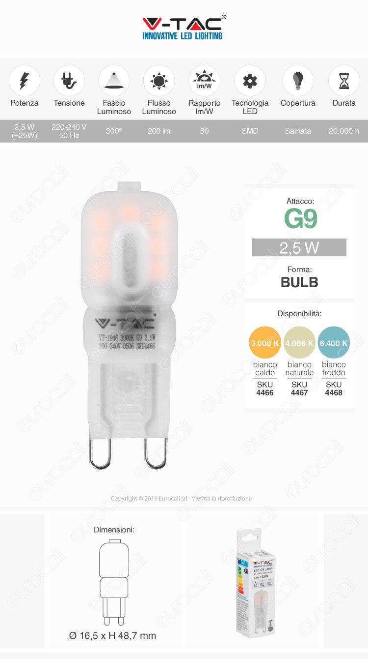 lampada led g9 v-tac