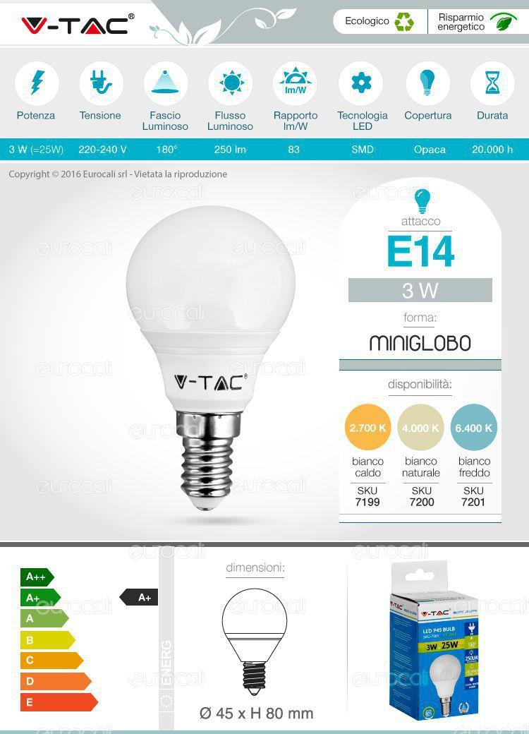 Lampadina LED V-Tac e14