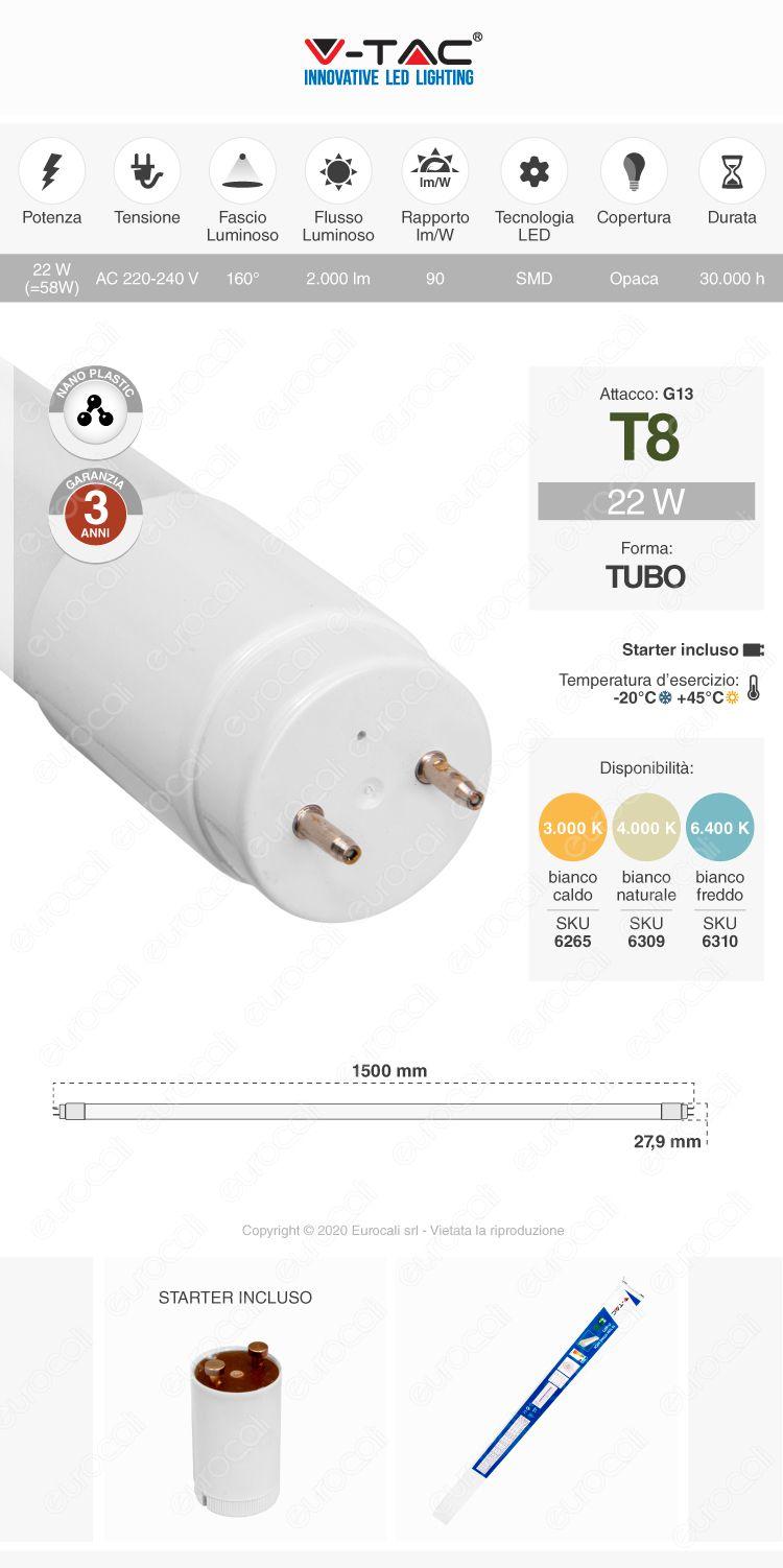 Tubo led t8 g13 v-tac