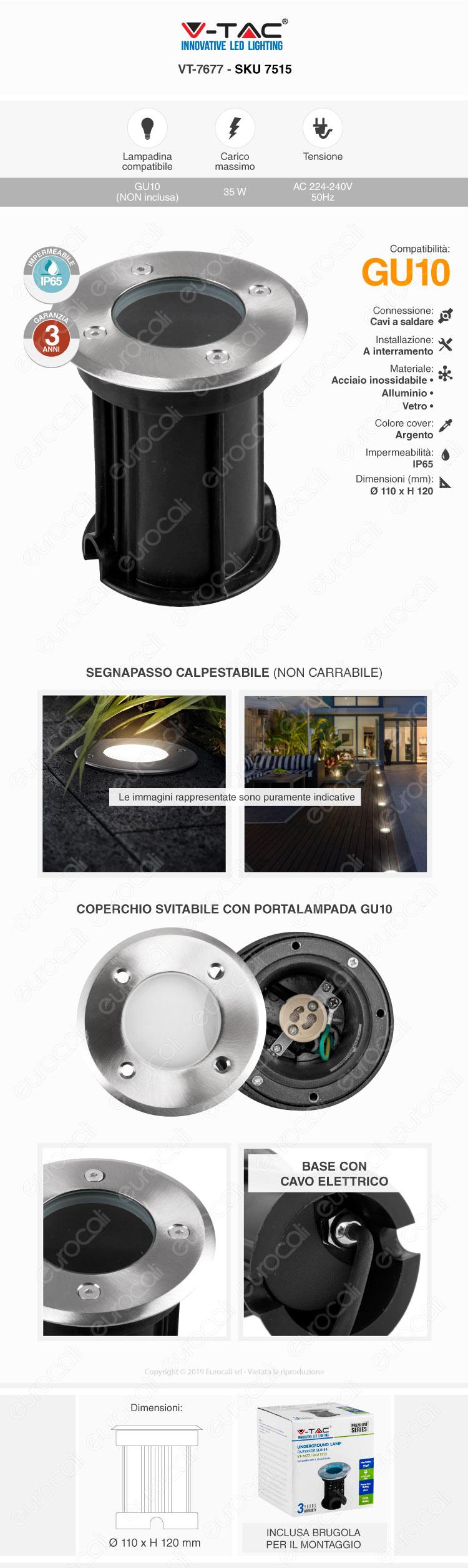 Portalampada GU10