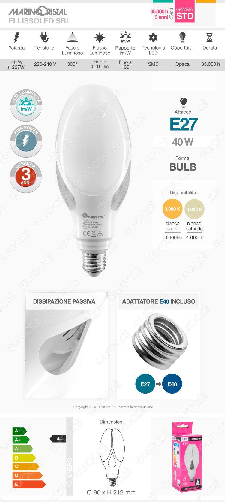 Lampadina LED Marino Cristal Hi-Power