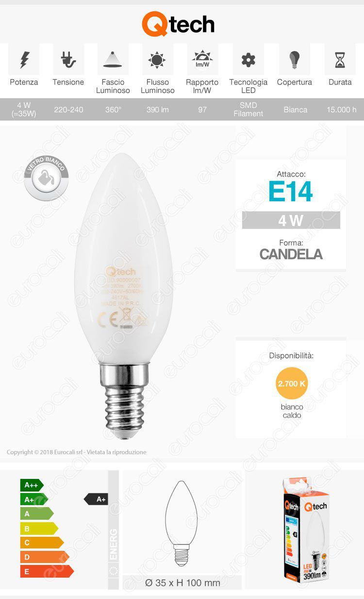 Duralamp Lampadina LED E27