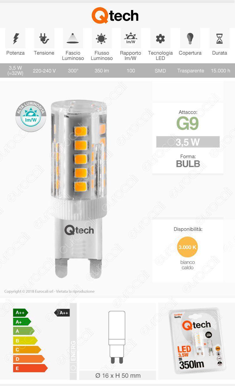 lampada led g9 qtech