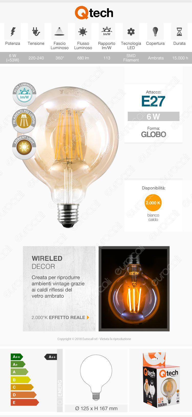 Qtech Lampadina LED E27