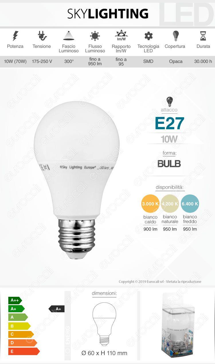 Lampadina LED filamento SkyLighting E27