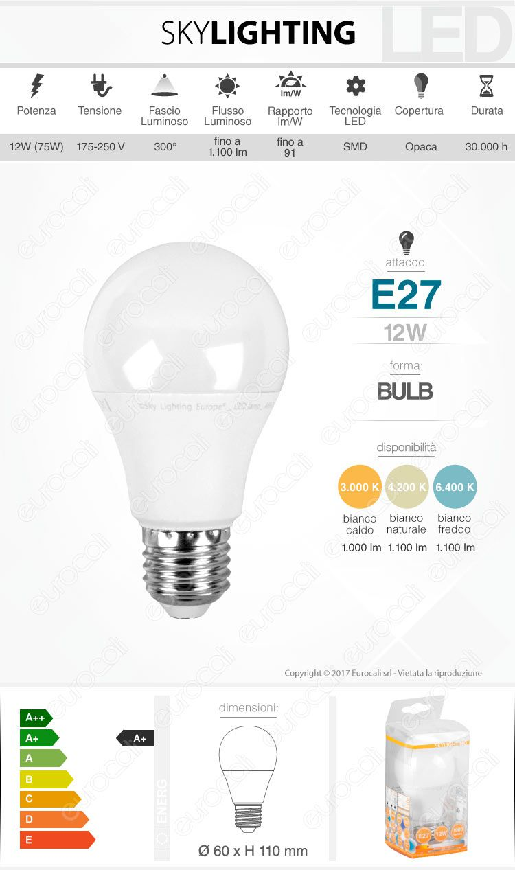 Lampadina LED SkyLighting E27