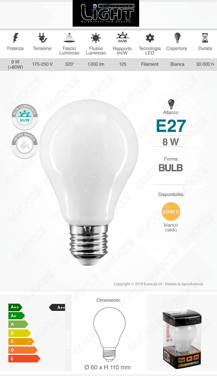intereurope light Lampadina LED E27