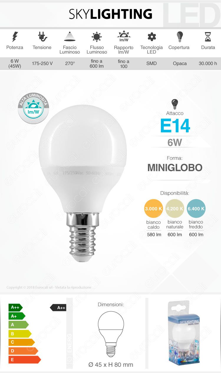 Lampadina LED SkyLighting E14