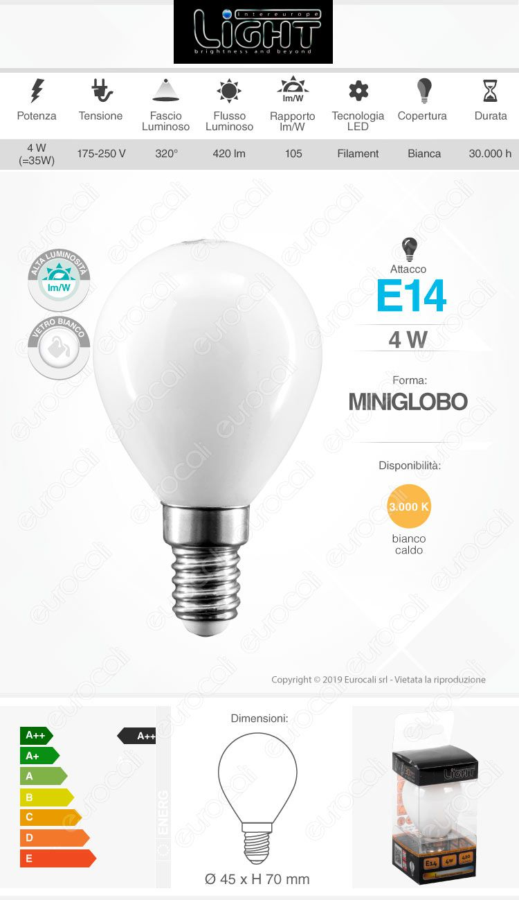 intereurope light Lampadina LED E14