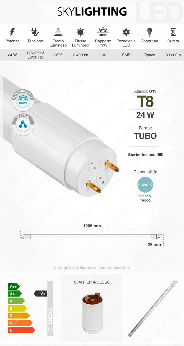 Tubo led t8 g13 skylighting