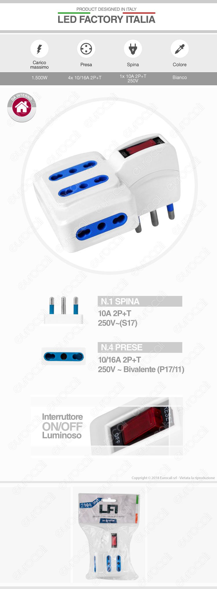 multipresa led factory italia