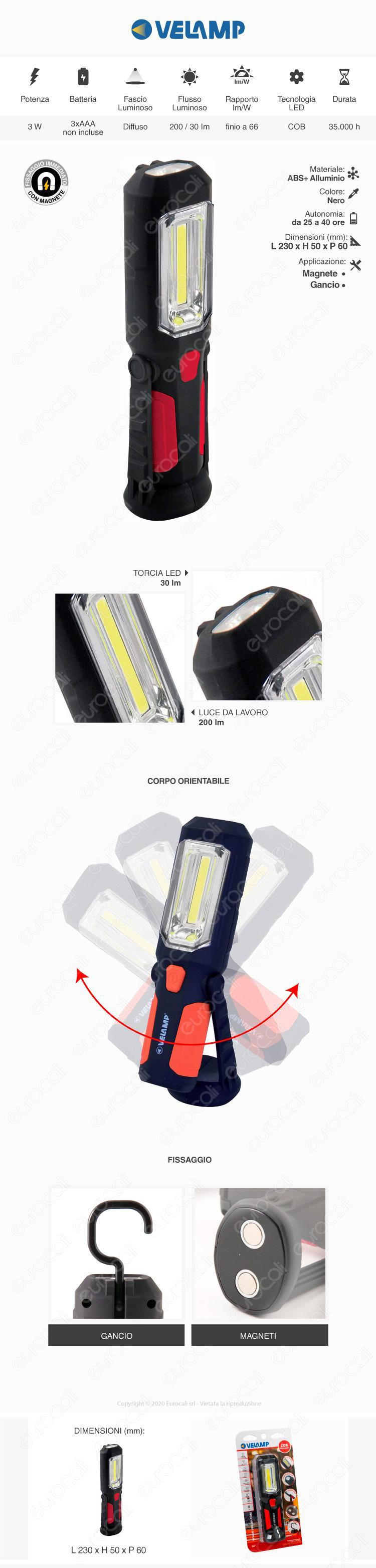 velamp lampada da lavoro
