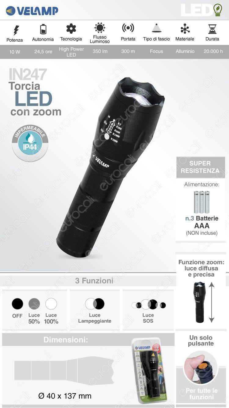 velamp torcia LED