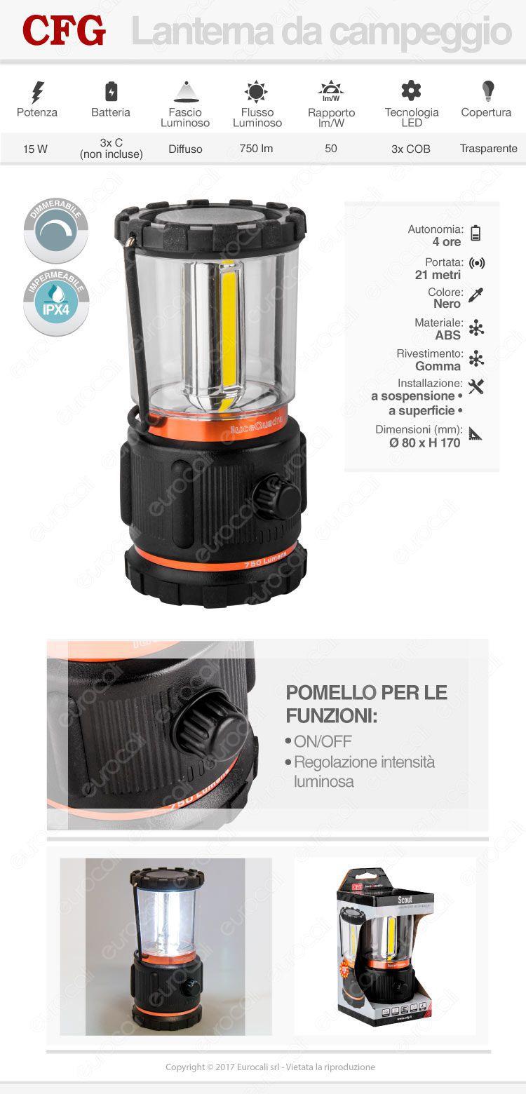 CFG lanterna da campeggio