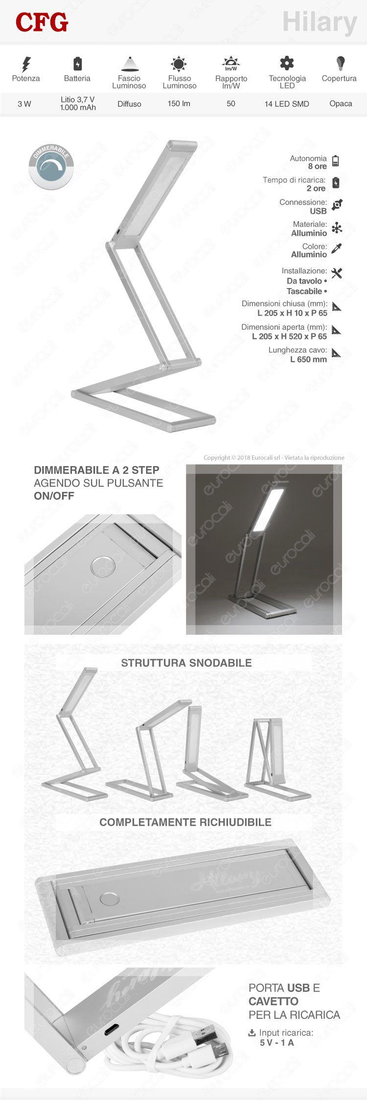 Lampada da tavolo LED CFG