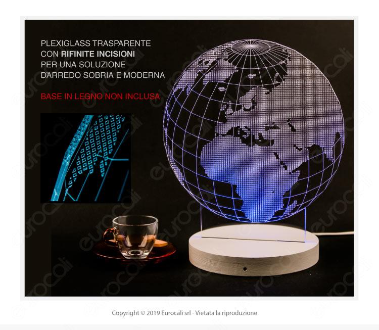 Placca Plexiglass Incisa al Laser