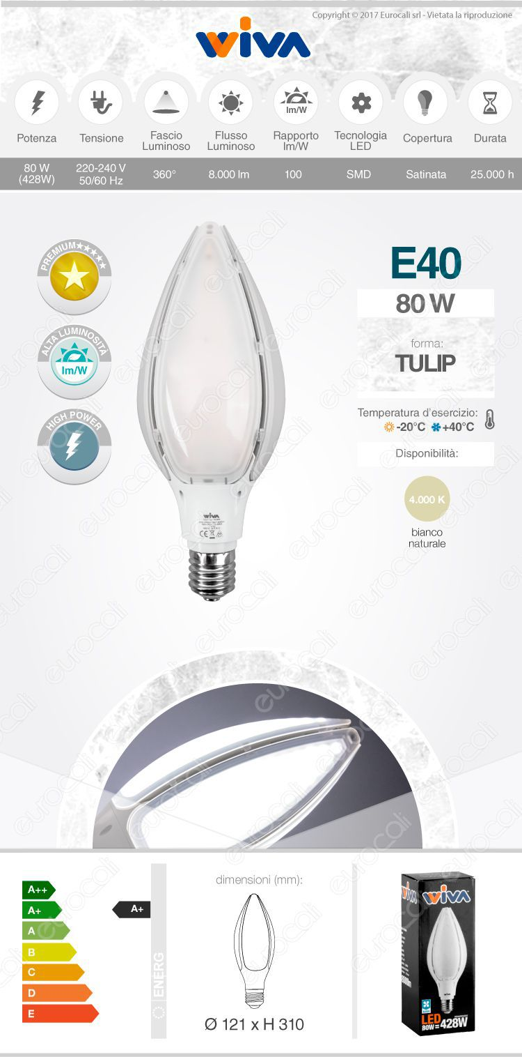 Lampadina LED Wiva Tulip Hi-Power
