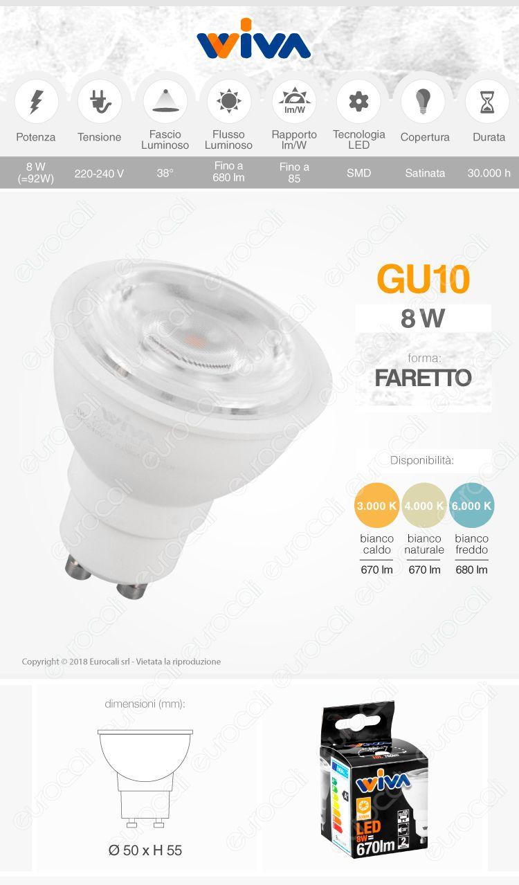 Lampadina Gu10 Faretto spotlight led