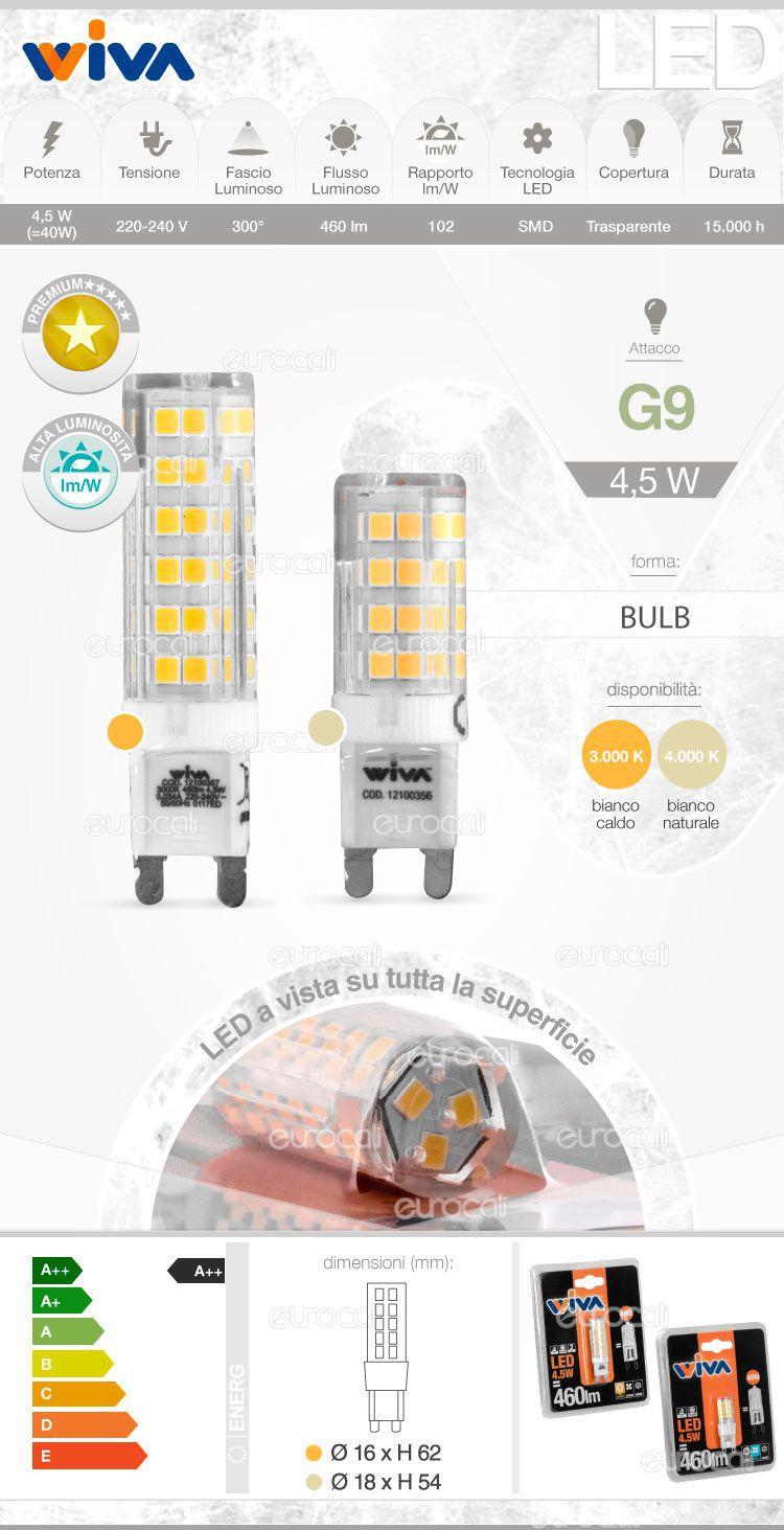 Wiva Lampadina LED g9