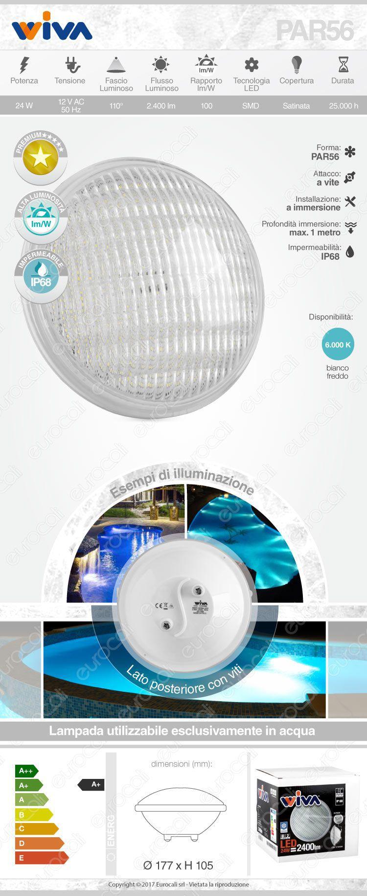 Wiva Lampadina LED piscina
