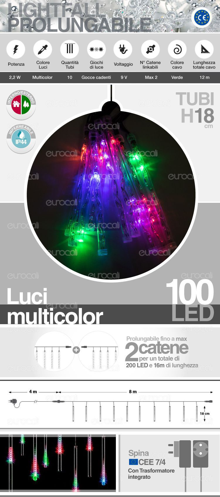 tubi LED multicolor