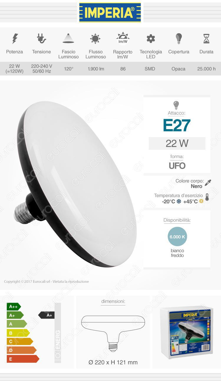 Imperia Lampadina LED E27