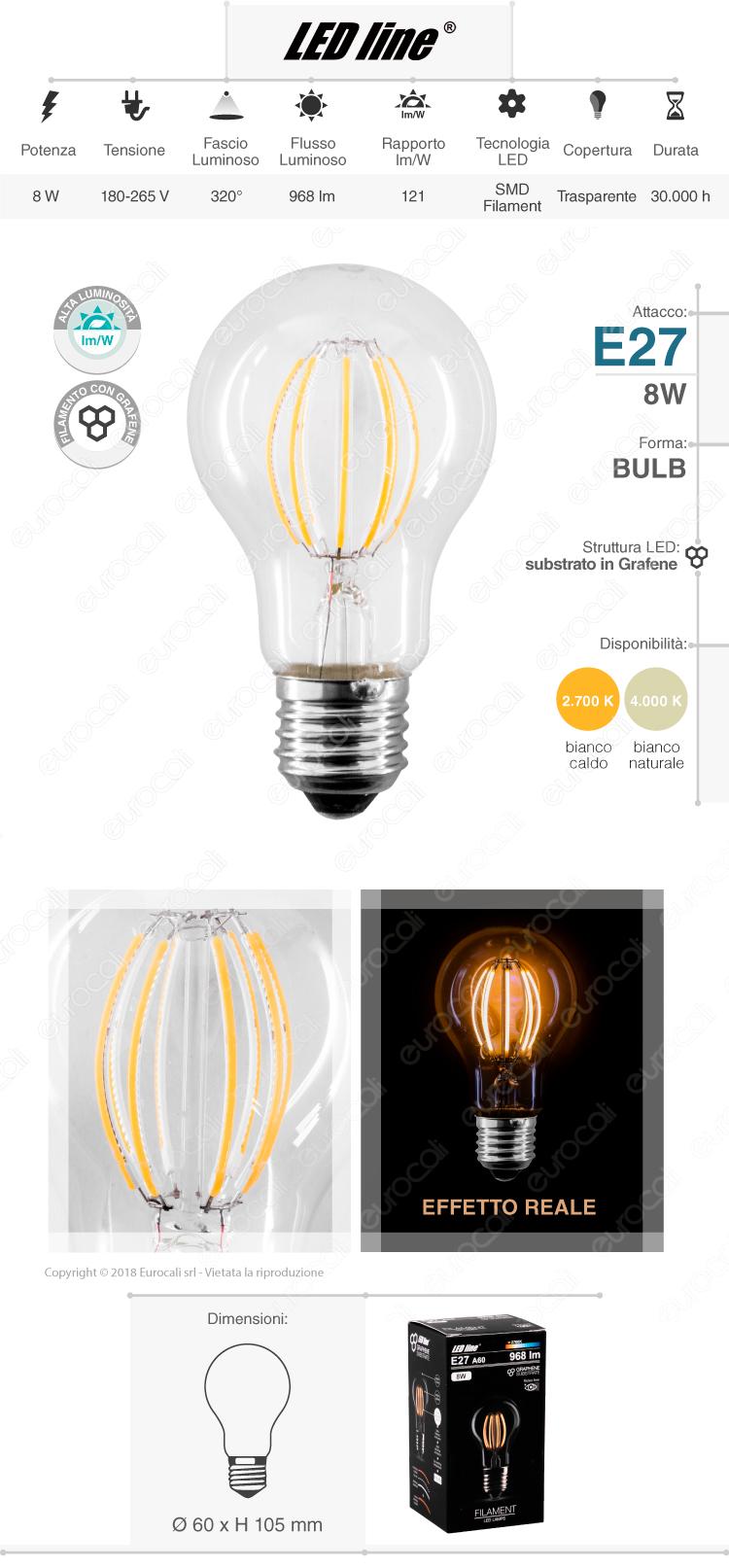 Led Line lampadina LED E27