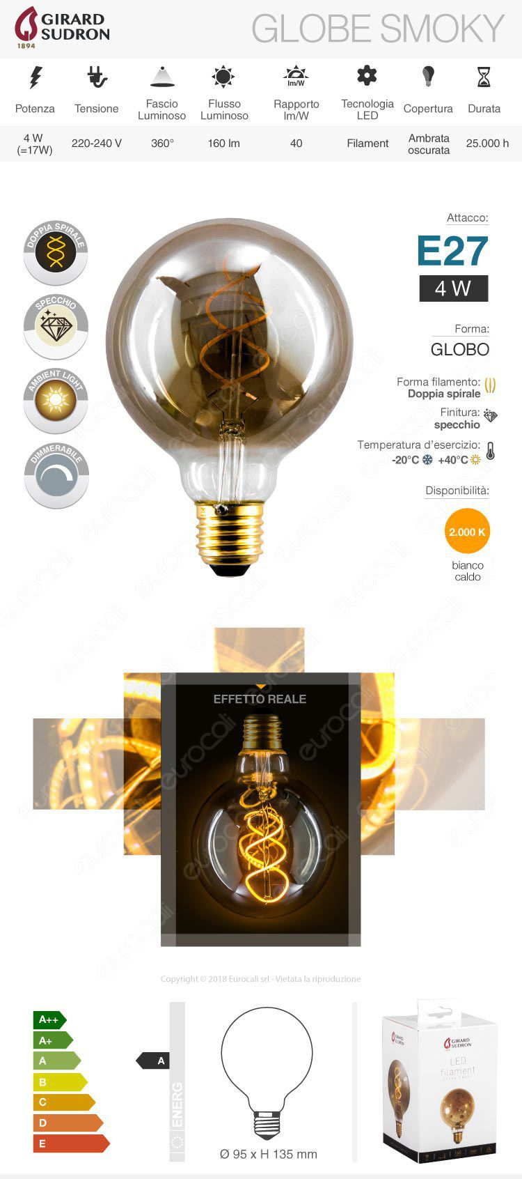 lampada led e27 girard sudron