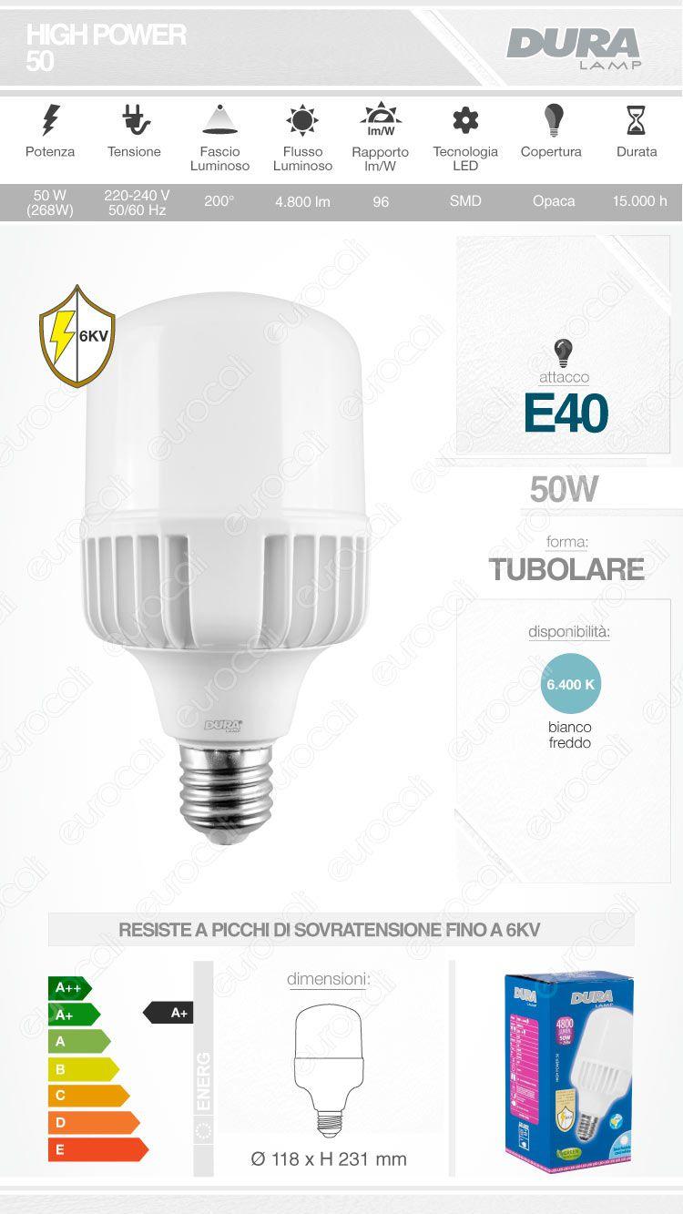 Lampadina LED Duralamp E40