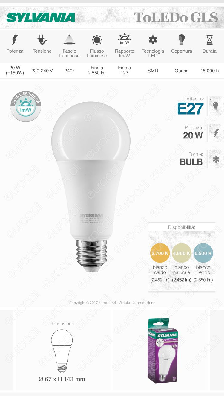 Sylvania Lampadina LED E27