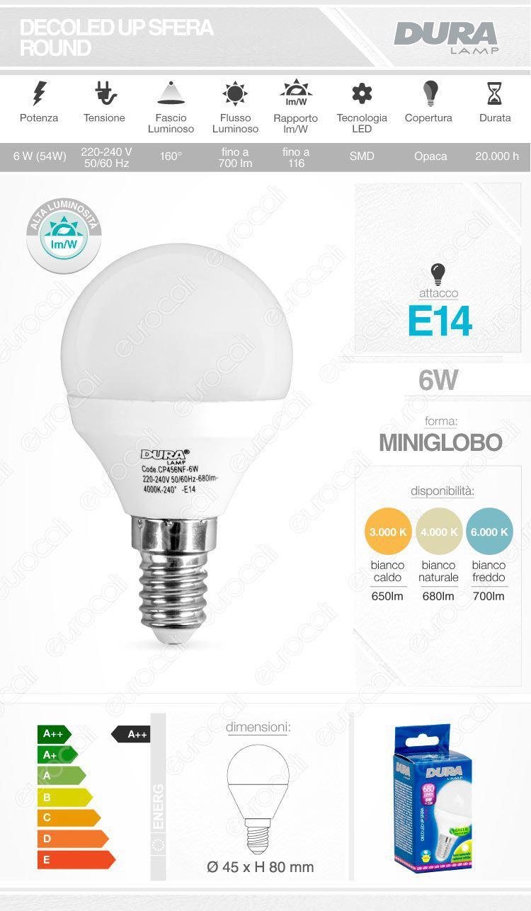 Duralamp Lampadina LED E14
