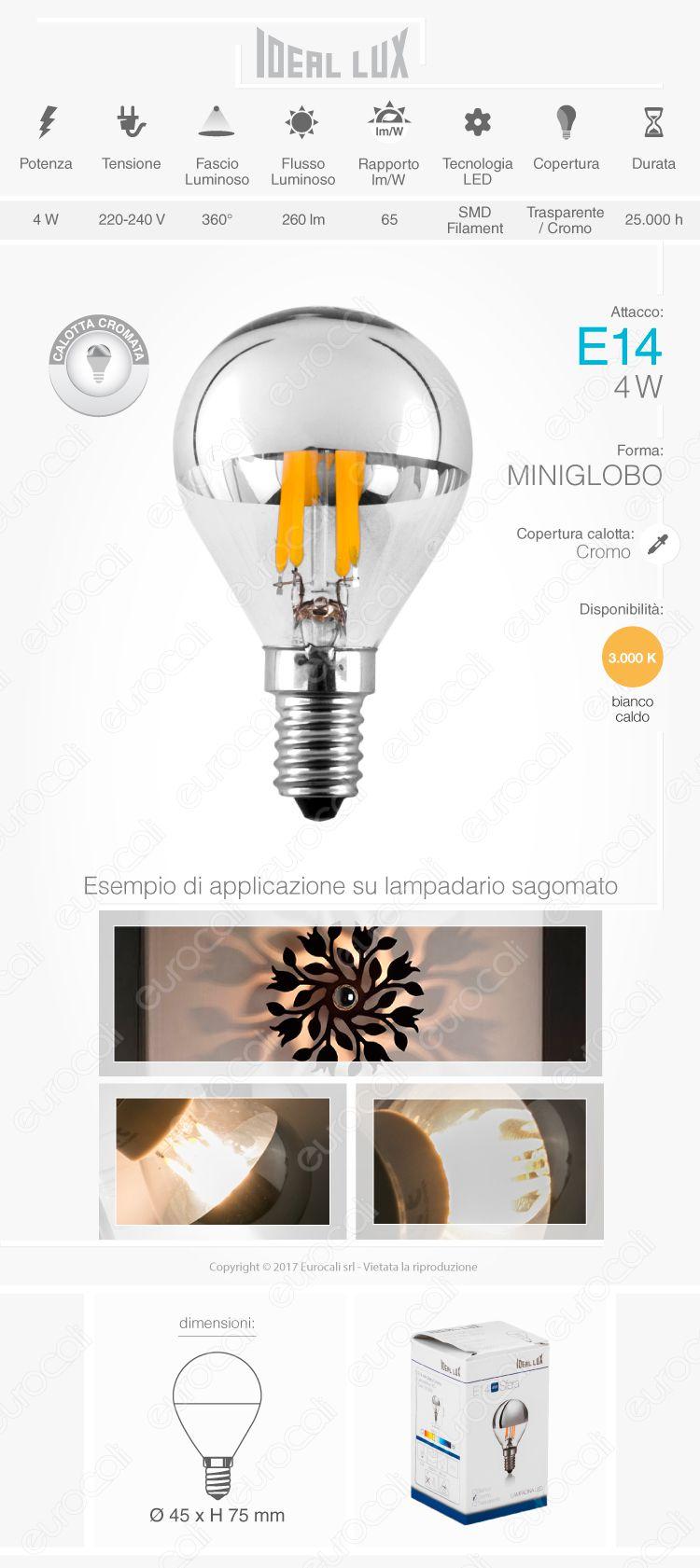 lampada led e14 ideal lux