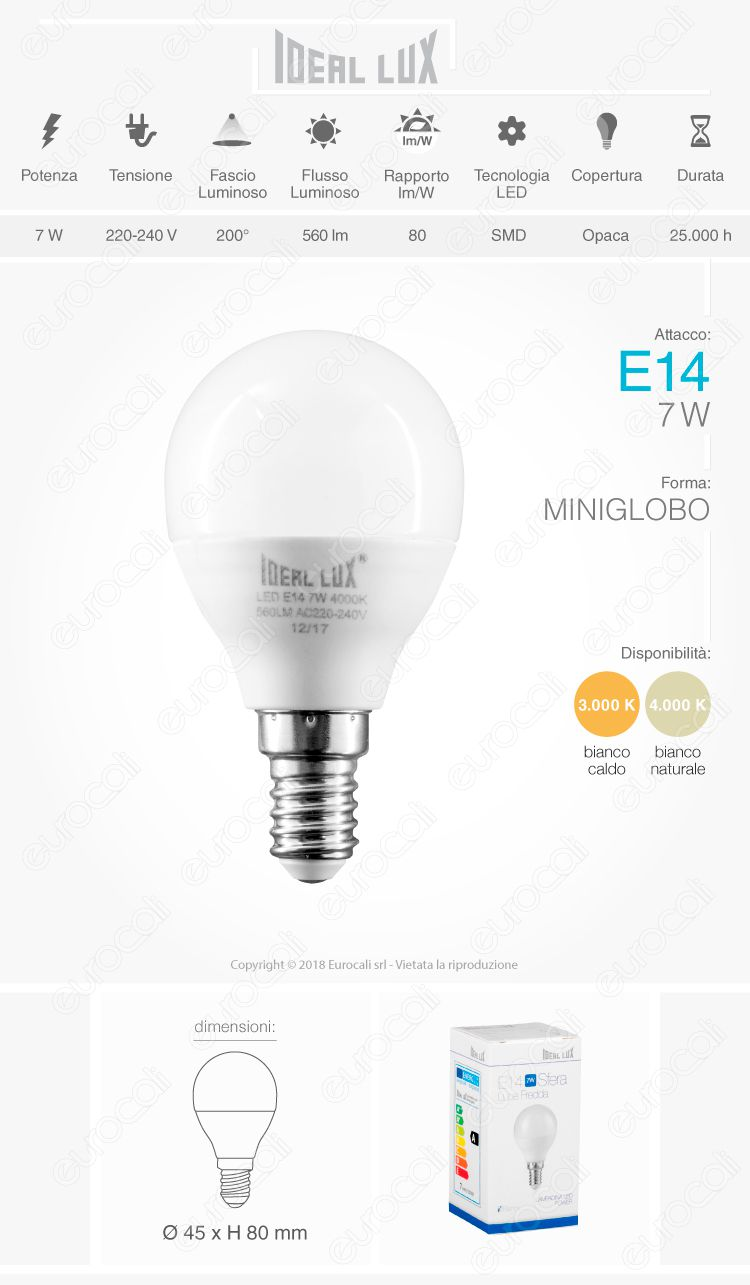Ideal Lux Lampadina LED E27