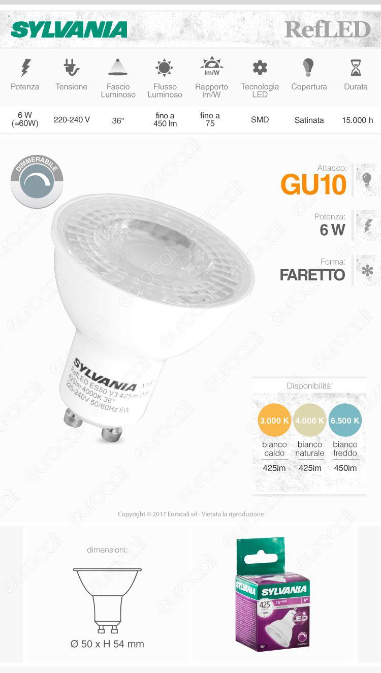Lampadina LED Sylvania GU10