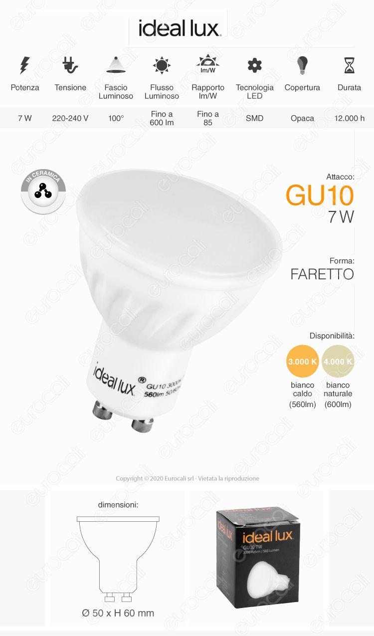 ideal lux gu10 7w