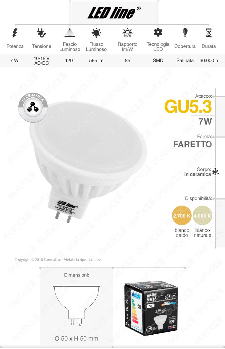 Led Line lampadina LED GU5.3 ceramic