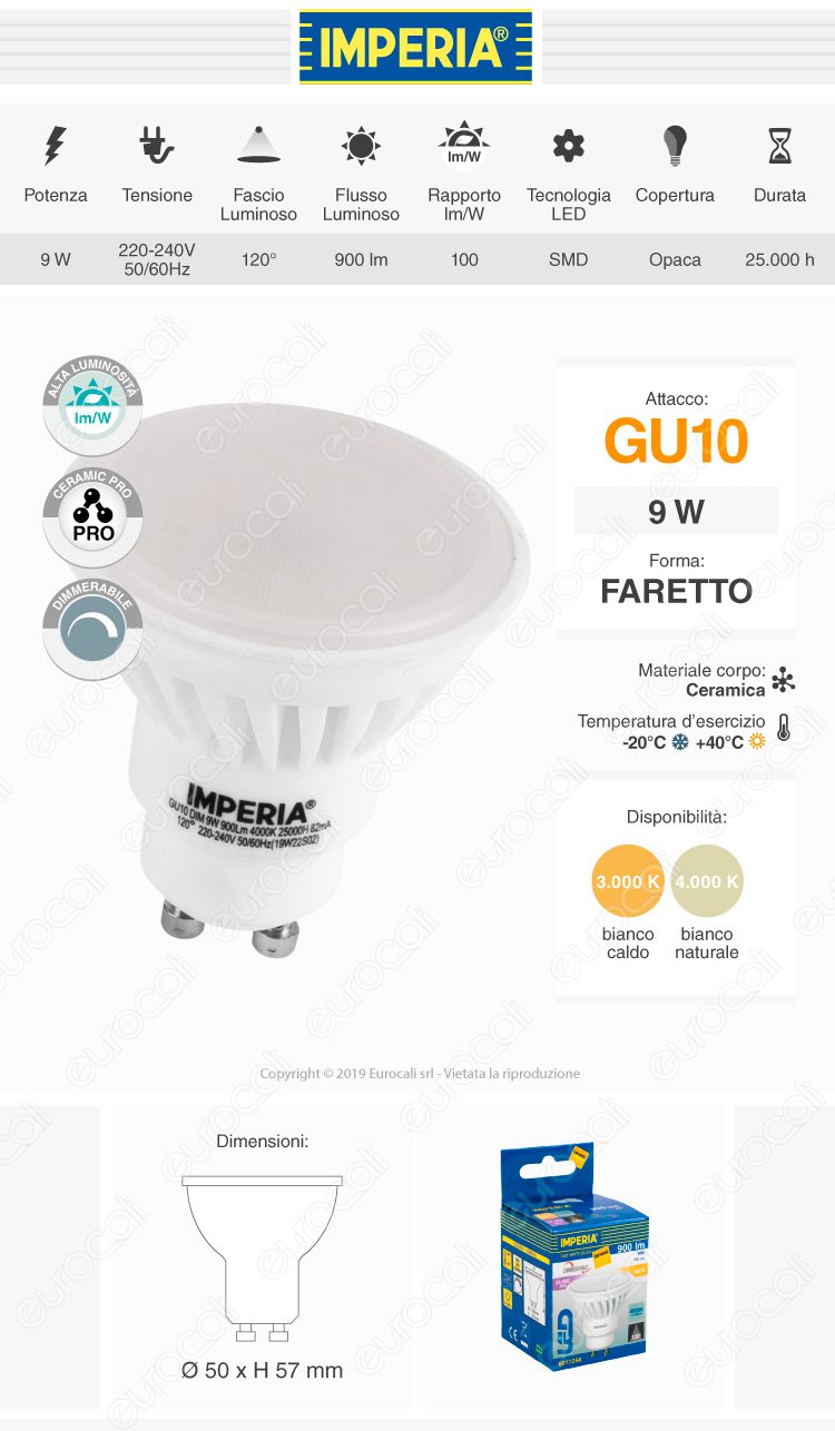 Imperia Lampadina LED GU10 9W