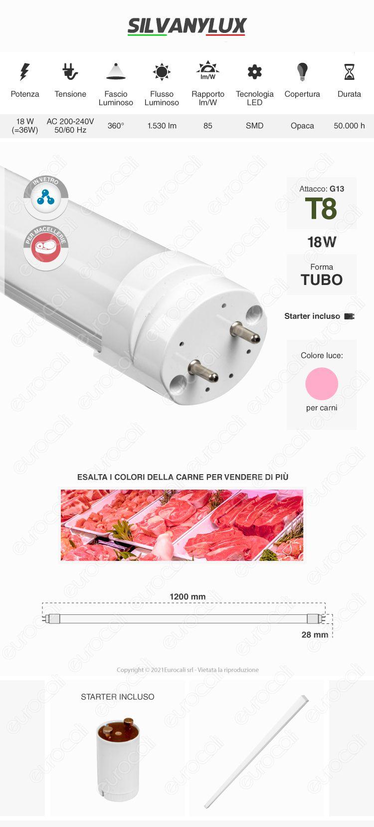 Tubo led t8 g13 Silvanylux