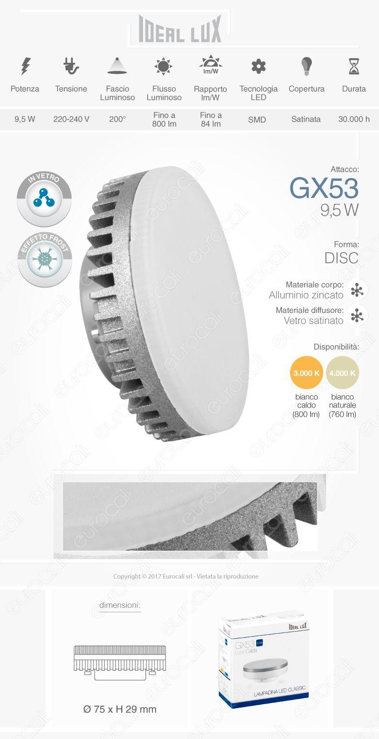 ideal lux lampadina gx 53