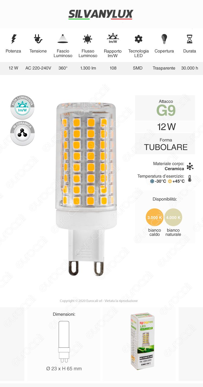 Silvanylux Lampadina LED g9