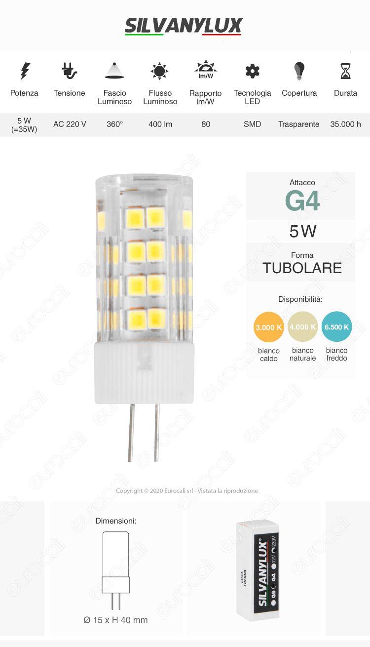 Led Line lampadina LED G9