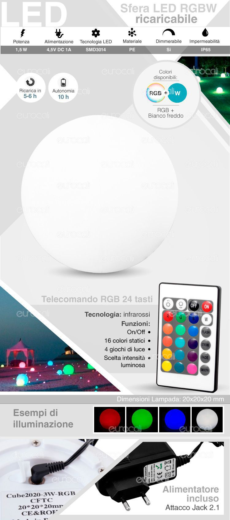 sfera RGB+W IP 65