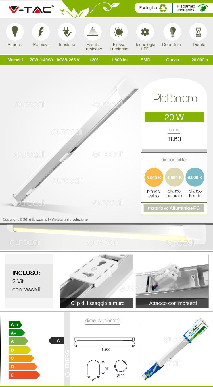 Tubo LED Plafoniera Smd