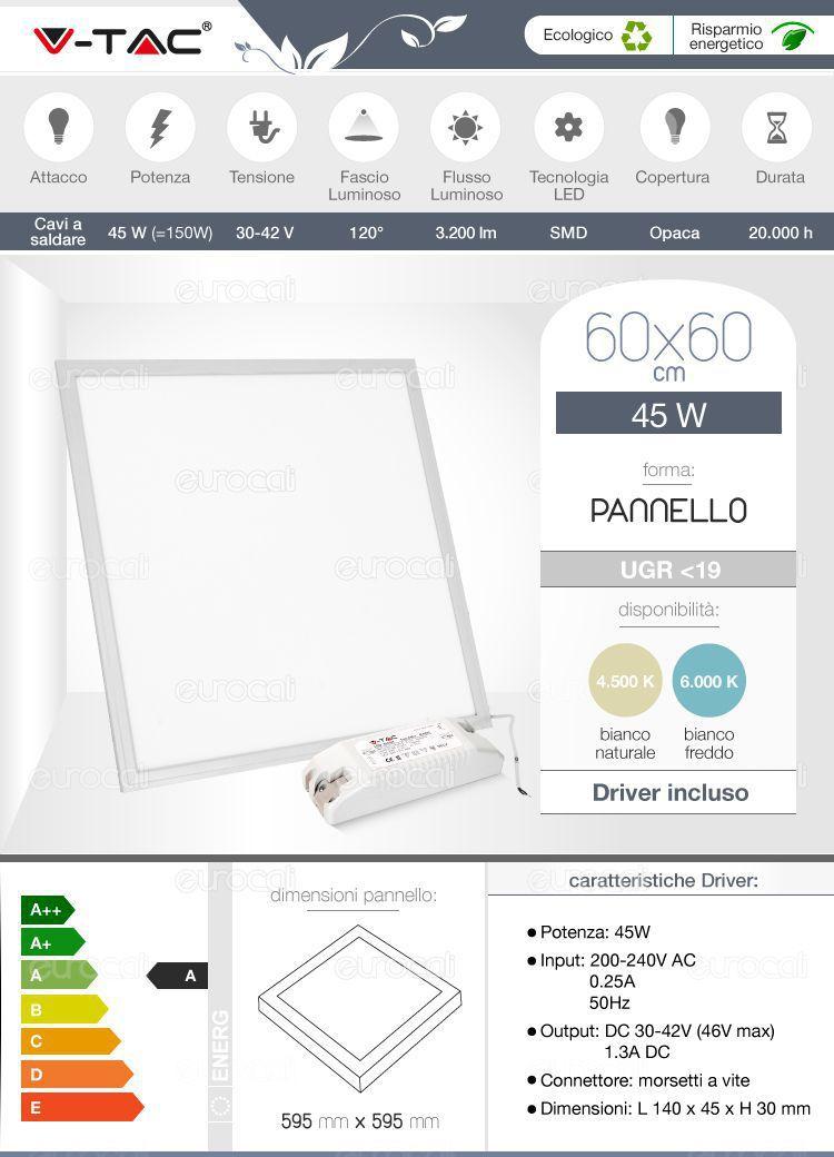 Pannello LED V-Tac UGR